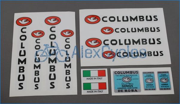 Set 30 Columbus GENIUS De Rosa Bicycle Decal Transfer Sticker