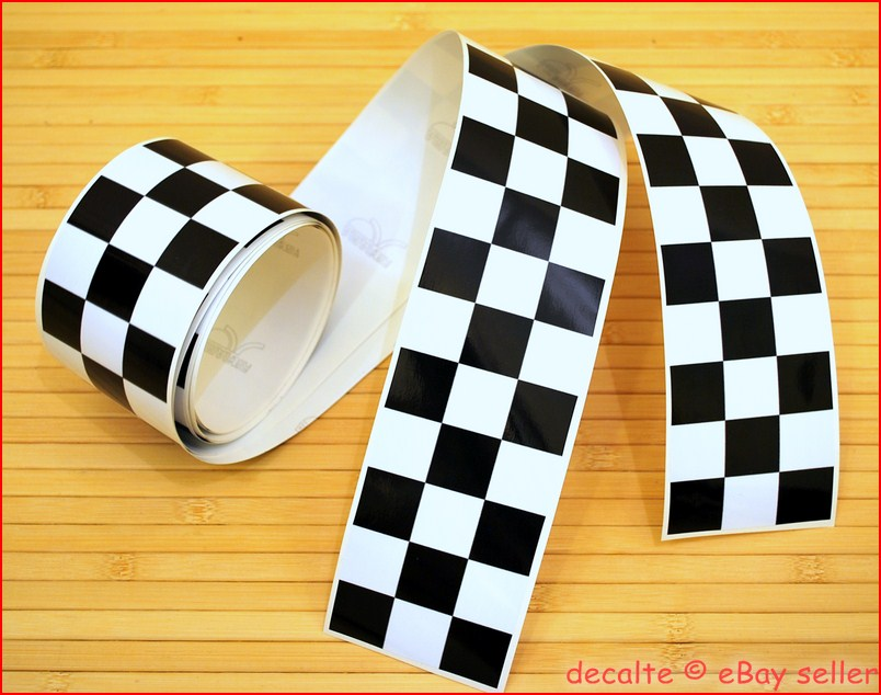 Cafe Racer Project Chequered Lengths Stripes Decals Tapes