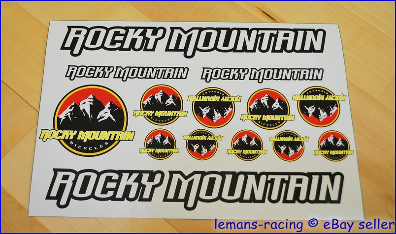 Rocky Mountain Bike Cycle Frame Decals Stickers Kit Mtb